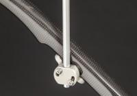 Adapter zum Einkleben in vorhandene Regenschirme. Harteloxiertes Aluminium, Durchmesser 10 Millimeter.